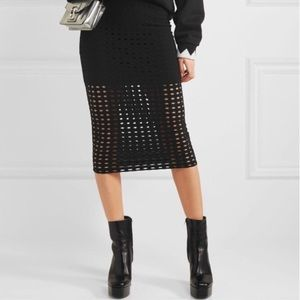T by Alexander Wang hole punch skirt